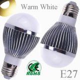 5W E27 Lâmpada LED branco quente