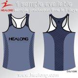 Maglia fredda di funzionamento del randello della squadra delle signore di sublimazione dei vestiti di disegno di Healong