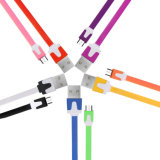 El cable mini USB colorido para Sanmsung S4 S3 S2 y muchas cámaras digitales