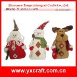 Tissu s'arrêtant d'arrivée de Noël de la décoration de Noël (ZY13G124-1-2-3 22CM)