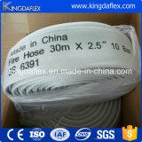 1,5 polegadas flexível lona revestida de PVC forro Layflat Mangueira de incêndio
