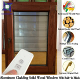 Ventana interna para los chalets, ventana de aluminio sólida completamente modificada para requisitos particulares del marco de la apertura de la apertura de la inclinación de madera de roble para los clientes de los E.E.U.U.