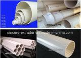 Tubo di drenaggio del PVC che mette il tubo in una cassa elettrico del condotto che fa macchina \ macchinario di plastica