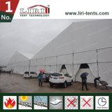 tente d'envergure d'espace libre de 50m avec le chapiteau latéral d'exposition de hauteur de 6m