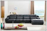 Mobilier en canapé en cuir de qualité supérieure 4 places (A849)
