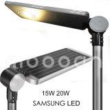 Lámpara de calle solar impermeable del sensor de movimiento impermeable 15W
