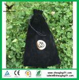 Bolso de encargo de la joyería del terciopelo del uso reciclable