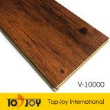 El patrón de madera suelos de interbloqueo de PVC de WPC