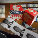Roulis estampé fait sur commande de tissu de salle de bains de papier de toilette d'Obama