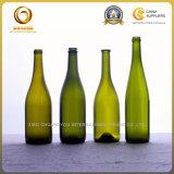 Бутылка вина высокого качества 750ml зеленая Burgundy с пробочкой (086)