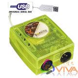 Contrôleur DMX/d'éclairage DMX Sunlite512/1024 contrôleur contrôleur USB (QC-CS011)
