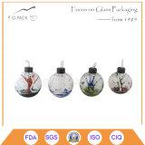 Decoração de mesa de vidro da lâmpada de óleo, Lâmpada de querosene com Wick