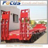 50tons hydraulischer Lowbed Plattform-LKW-halb Schlussteil für Exkavator-Transport
