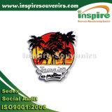 La Jamaïque le lever du soleil en PVC souple Palmtree Fridge Magnet, réfrigérateur autocollant en plastique personnalisés