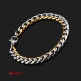 Gold und Silver Edelstahl Bracelt für Womens Jewelry