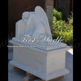 Marble Stone Granite Memorial White Carrara Tombstone Mem-002