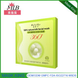 Mascherina di seta naturale di trattamento della fronte di taglio del tè verde di controllo del petrolio