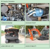 Chine Mini pelle hydraulique à chenilles avec certificat ISO9001