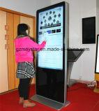 Pedestal de 42 pulgadas de la publicidad comercial de la pantalla táctil Resisitive