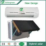 Aquecedor de água solar Ar condicionado de economia de energia do tubo de vácuo híbrido