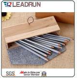Holz-verpackenbleistift-Geschenk-Feder-Kasten-Papier-Bildschirmanzeige-Plastikfeder-Kasten-Verpackungs-Kasten-Schaukarton (YSN10)