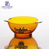 Machine faite de la sécurité alimentaire bol en verre de couleur ambre