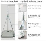 Pubblicità della bandierina palo telescopica di alluminio promozionale della base di plastica dell'acqua del blocco per grafici di schermo