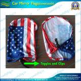 Décoration miroir de voiture en polyester élastique Drapeau couvre (NF13F14012)