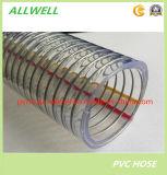 """Шланг 1 трубы водопровода спиральн весны сада полива шланга всасывания стального провода PVC пластичный усиленный """""""
