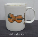 Couper l'impression en porcelaine blanche de l'autocollant promotionnel WSY673tasse de café (M)