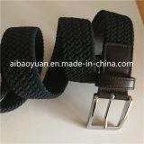 Cinghia elastica Braided della cinghia di stirata di Classial del nero scuro