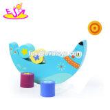 Il nuovo equilibrio di legno della luna divertente più caldo ostruisce il giocattolo per i Preschoolers W11f072