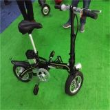 bicicletta piegante elettrica nera astuta 12inch
