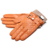 Men Fashion Winter Warm Leather Motocicleta Driving Sports Gloves (YKY5195)