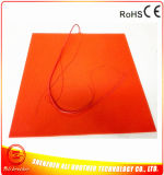 110V 1000W 550*550*1.5mm Silicone Rubber Heater voor 3D Printer