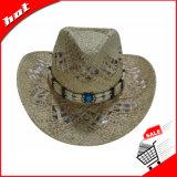 Moda chapéu de ráfia ráfia Cowboy Hat Chapéu de Palha Cowboy Hat