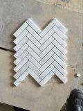Белое 1X3 '' шевронное Mosaic Tile для Wall