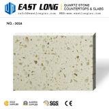 Pedra Polished artificial de quartzo da grão da cor bege por atacado para bancadas