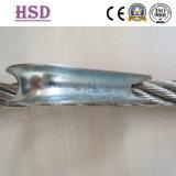 잠그개 삭구를 위한 전기판에 의하여 직류 전기를 통하는 DIN6899A 철사 밧줄 골무