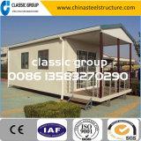 低価格の組立て式に作られた鉄骨構造のプレハブの家デザイン