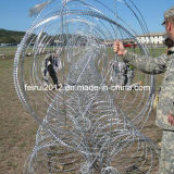 Seguridad militar y policial móvil Barreras de alambre de afeitar