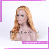 El cabello humano brasileña de encaje frontal rubia platino pelucas
