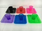 처분할 수 있는 플라스틱 색깔 당 공급 식기