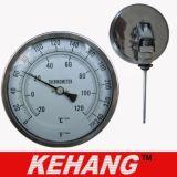 Calibro industriale registrabile di temperatura del termometro bimetallico