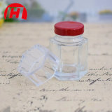 De nieuwe Ontworpen Duidelijke Hexagonale Kruik van het Glas voor Honing
