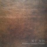 Tessuto decorativo 100% della pelle scamosciata del sofà del poliestere del cuoio con bronzare trattamento