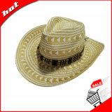Sombrero unisex de la paja del vaquero de papel de Sun