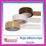 Claro y marrón adhesivo acrílico a base de agua Sellado cartón BOPP Cinta de embalaje