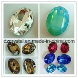 Diamantes Perlas cristal piedra Oval Estrás (DZ-3002)