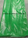 Feuille verte de bâche de protection de PE de qualité, couverture de bâche de protection de PE